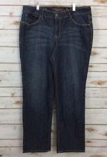 Faded Glory Jeans Size 18P Petite Straight Leg Medium Wash Stretch Meas 36x31