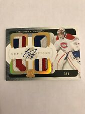2011-12 The Cup Foundations Patches Autographs #CFCP Carey Price