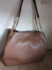 Michael Kors Luggage Large Tan Brown Leather Tote Bag ~ New ~ FREE P&P
