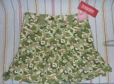 5 5T GIRL GYMBOREE Savanna Sunset ARMY GREEN CAMOUFLAGE SKIRT/SKORT BASEBALL CAP