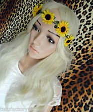 SUNFLOWER BROWBAND FLOWER CROWN SUMMER FESTIVAL FASHION BEACH HOLIDAY HEADBAND