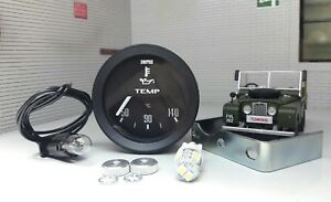 """Land Rover Series 1 2 2a 3 86 88 107 OEM Smiths 2"""" Oil Temp Temperature Gauge"""