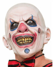 Twisted Clown Mens Adult Evil Jester Costume Latex Full Face Mask