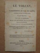 CUVELIER DE TRIE : LE VOLCAN ou l'anachorète du Val des Laves, 1812.