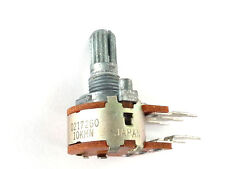 2x  ALPS Potentiometer 10k Dual Pot Japan - 10KMN - Centre Detent - NOS