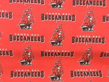 """TAMPA BAY BUCCANEERS NFL 60"""" COTTON FABRIC BY THE HALF YARD Fabric Traditions"""