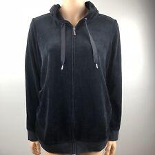 Motherhood Maternity Black Full Zipper Sweater Hoodie Sz L Large