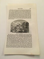 K47) State House Building Washington Square Newport Rhode Island 1861 Engraving