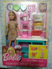 Barbie Sisters Stacie Doll Breakfast Playset Dough and Waffle Maker New