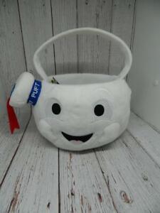 Ghostbusters Stay Puft Marshmallow Man Plush Halloween Bucket Basket NEW