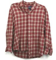 Saddlebred Mens Button Down Flannel Shirt Long Sleeves Button Cuffs Size XL