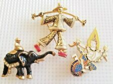 Vintage Characters of the World Brooch Lot Siam Spain Other