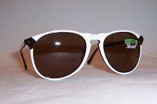 NEW Persol Sunglasses PO 6649/S/M 1097AN WHITE/BROWN POLARIZED 6649SM AUTHENTIC