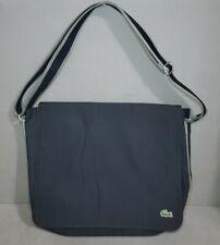RARE Lacoste Laptop Cross Body Bag Messenger Carry All Black Nylon Canvas
