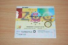 U2 - RARE 1993 UK TICKET STUB LONDON WEMBLEY STADIUM ZOOROPA TOUR. zoo bono