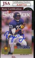 Roger Craig 1993 Sky Box Jsa Coa Hand Signed Authentic Autograph
