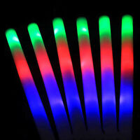 Party Flashing Glow Stick Light Up LED Multi Color Foam Sticks Rally Rave Baton