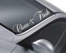 Clean and Fresh Windscreen Sticker Funny JDM Drift Car Lowered Dub Decal m95