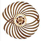 Handmade Wooden Kinetic Sculpture Whirling Windmill Reversal Statue Retro Decor