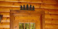 BLACK PINE TREE SILHOUETTE WALL DECORATION - CLINGERMANS DECOR