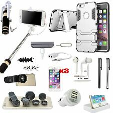 16 x Case Cover Charger Monopod Fish Eye Lens Accessory Bundle For iPhone 6 6S