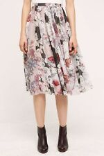 Anthropologie VARUN BAHL L Skirt Flowerful Midi Polyester Floral Panel Lined NWT