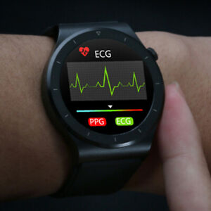 Bluetooth Smart Watch ECG PPG Heart Rate Blood Pressure Temp. Sports Bracelet