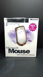 Vintage Microsoft Mouse  2 Button  PS/2 Win95 Round Mouse Port NIB 68580