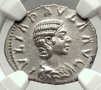 JULIA PAULA Elagabalus Wife Rome Ancient Silver Roman Coin CONCORDIA NGC i72897