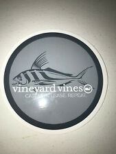 NEW GRAY VINEYARD VINES STICKER DECAL FISH CATCH RELEASE REPEAT