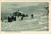 AK Riesengebirge, Prinz-Heinrich-Baude mit Schneekoppe, Winter im Rsgb., 11/04