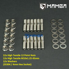 Mamba Cnc Ss304 Stud Kit Turbo To Exhaust Manifold Amp Dump Pipe Mhi 4g63t Evo 19