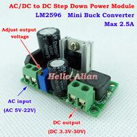 AC/DC To DC Step-Down Volt Converter 3.3V 5V 12V 24V Rectifier Filter Buck Board
