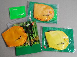1999 Swissair Airline Menu Eye Mask Towelette Wipes Travel Kit