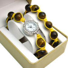 ECHO' Shamballa Style Watch and Bracelet Set Beautiful Tigers Eye no.5