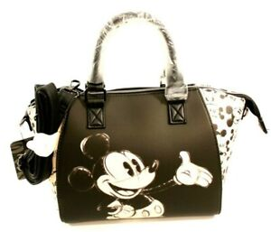 Loungefly Disney Mickey Mouse Sketch Faux Leather Crossbody Satchel Bag Purse