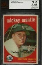 1959 TOPPS #10 MICKEY MANTLE BVG 7.5 NM+ NEW YORK YANKEES HOF BASEBALL