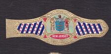 Ancienne Bague de Cigare Vitola  BN122905 Ecusson Etats Unis New Jersey