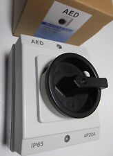 Solar PV DC Rotary Isolator Switch 20A 4 Pole 1000V-DC IP65 AED E204PDC