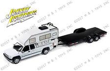 Johnny Lightning Truck 2002 Camper and Flatbed Trailer JLCP7087 1/64