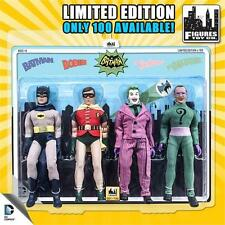 BATMAN 1966 TV SERIES  4 PACK OF 8 INCH FIGURES 100 PIECE EXCLUSIVE NEW FTC