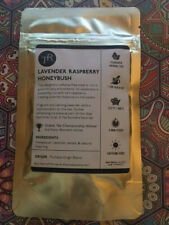 TEA - LOOSE LEAF HERBAL BLEND - LAVENDER RASPBERRY HONEYBUSH - 1OZ SEALED PKG