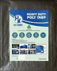 12 Mil Heavy Duty Poly Tarp 200 GSM All Purpose Canopy Reinforced Tarpaulin