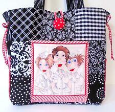 NURSE TOTEBAG ~ 100% Cotton Prewashed Fabric ~ Multi-Color Handmade Tote Bag #B