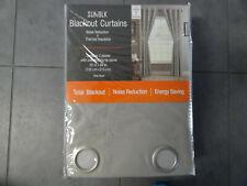 New- Sunblk Blackout Curtains 2 Panels & Tie Backs- Delta Taupe 52'' W x 84'' L