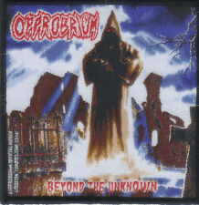 OPPROBRIUM-BEYOND THE UNKNOWN- WOVEN PATCH-super rare