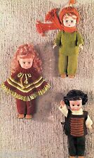 """Doll Clothes Knitting Pattern For The 14"""" Doll 6 Pieces Poncho"""