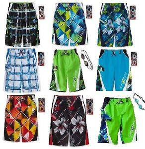ZeroXposur Board Shorts Swim Trunks & Goggles ~ Pick Your Size & Color ~ NWT