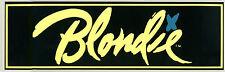 Blondie Official Fan Club 1979 Vintage Bumper Sticker New Deborah Harry Debbie