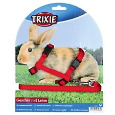 Rabbit harness and lead, various colours. snap buckles(6260)